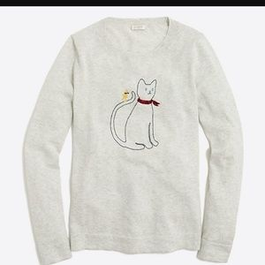 J.crew factory embroidered sweater 🐈